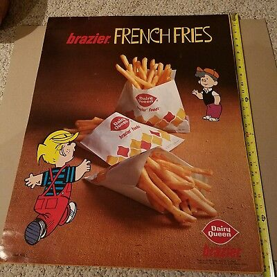 Vintage Dairy Queen BRAZIER Dennis the Menace & Joey 1972 poster