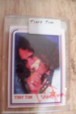 Tiny Tim Signed autographed collector card---rare