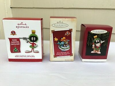 Set of Marvin the Martian Hallmark Keepsake Ornaments - Warner Bros (1996-2013)