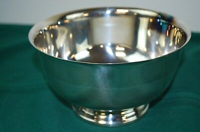 Vintage Silver Plate Paul Revere Reproduction Bowl by International Silver