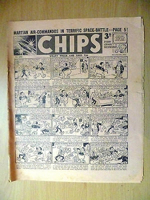 1952 Vintage Comic CHIPS- Martian Air Commandos in Terrific Space Battle (RARE)