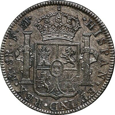 1792 Mexico Silver 8 Reales, Mo FM, KM# 109, XF Details, Cleaned, Toned