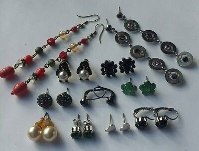 Job Lot Of Vintage Paired Earrings