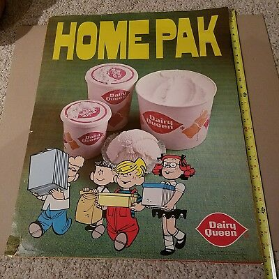 Vintage Dairy Queen Dennis the Menace & Gang 1972 poster