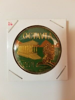 1986 Krewe of Octavia Multi Color Doubloon
