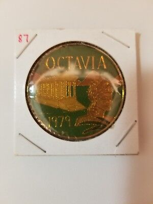 1987 Krewe of Octavia Multi Color Doubloon