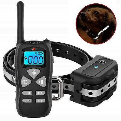 DOG E COLLAR Anti Bark Shock Training Remote 2600 Ft Range Electric Pet Trainer