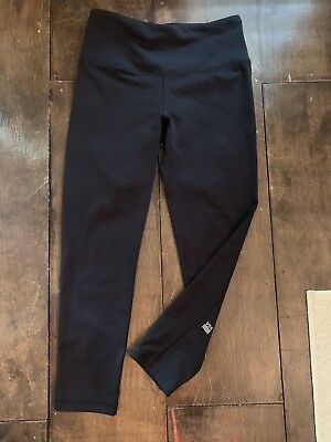 Womens Xs Victorias Secret Sport Leggings Black Euc