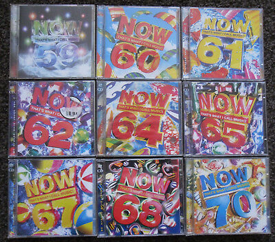 NOW 59-70 CD SET - That's What I Call Music Bundle - 9 CD's