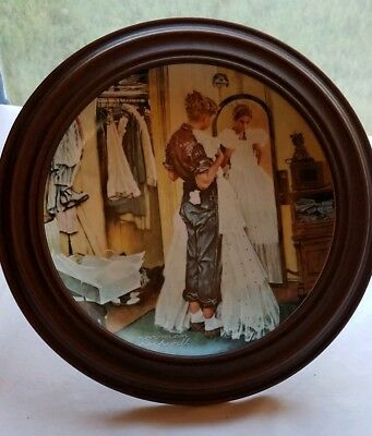 """Her First Formal"" Coming of Age Plate Collection by Norman Rockwell w/ Frame"