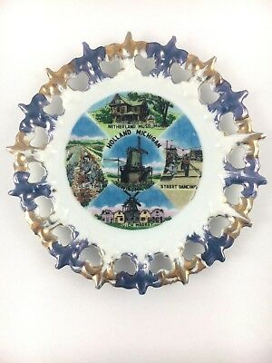 "HOLLAND MICHIGAN Plate - Vintage Collectible 5"" Netherland Museum, Dutch Market"