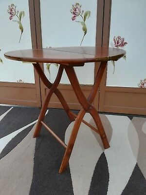 Antique mahogany folding side table, plantation, cricket, arts & crafts