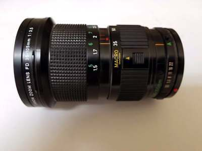 Canon FD 35-105mm Zoom Lens f/3.5