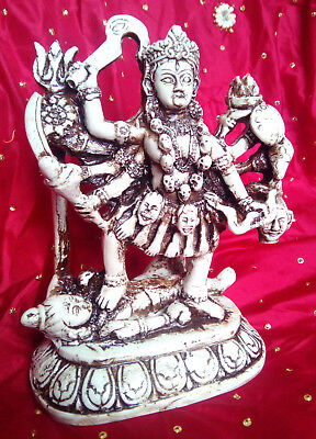 Kali Ma large cream statue Goddess of strengthand protection altar Hindu Pagan