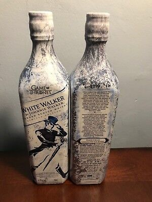 Two 2 x2 Johnnie Walker White Walker Game of Thrones GoT Limited Edition Bottles