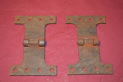 2 x Large Vintage / Antique H Hinge or butterfly Cast Iron