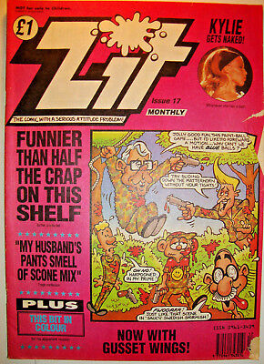 ZIT COMIC No 17 Counter Culture Humour KYLIE gets NAKED June 1992 Good Condition
