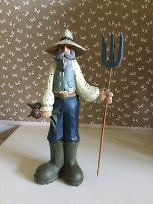 williraye studio WW1034 Farmer Jeff  Figurine Statue Collectible