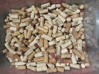 600 + (629) Natural Wine Corks No Synthetic Great For Crafting Or Hobby Nice!