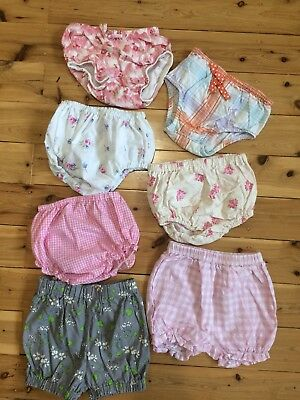 Baby Girl Nappy Covers Shorts Sz1