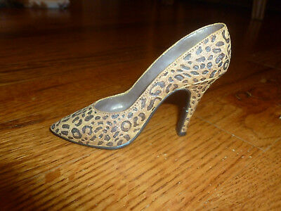 Just the Right Shoe Leopard Stiletto Heel Item 25017 by Raine