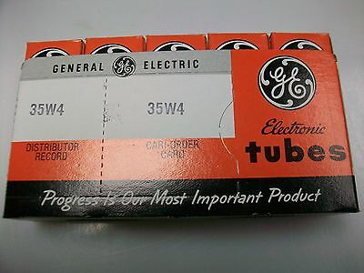 Sleeve Of Five Ge 35W4 Tubes