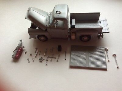 1953 vintage Ford Pickup truck AMT 1/25th scale model Flat head V8 & tool kits