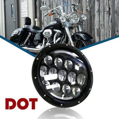 LED Headlight fit Harley Davidson Touring Street Glide Softail Dyna Bob Daymaker