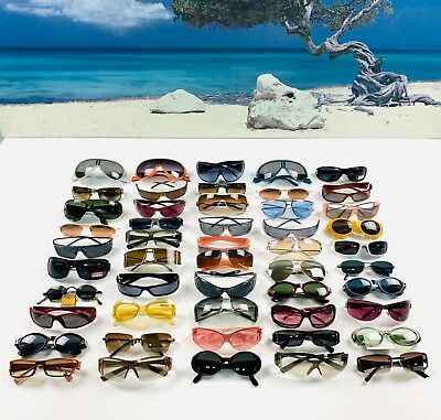 Lot Of 50 Pairs Of Sunglasses Made In Italy New And Authentic 100%