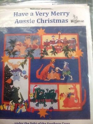 Millimac Quilting Pattern, Have A Very Merry Aussie Christmas, Kit