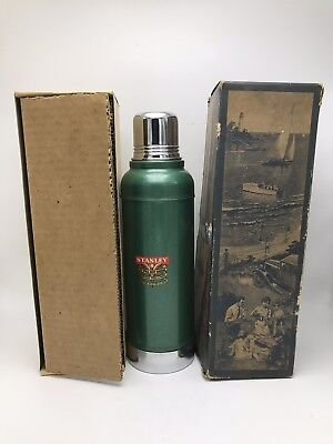 Vintage STANLEY Vacuum Bottle Thermos 914S With Long Cork Orig Box