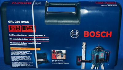 Bosch 1,000-Ft Beam Self Leveling Rotary Laser Level Full Kit Grl 250 Hvck