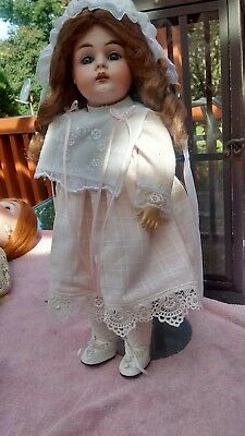 Beautiful Antique German Kestner Bisque Head Child Doll 15 1/2""