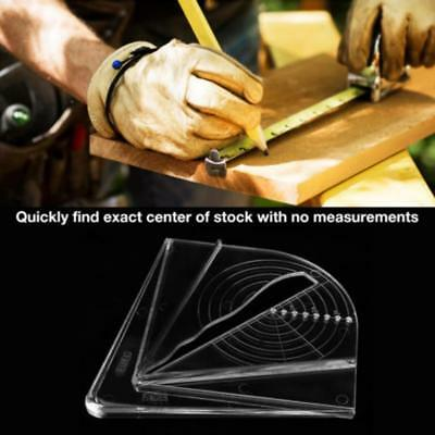 Plastic Center Finder Hexagon Measurement Layout Tools for Square/Round/Octagon