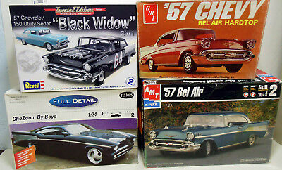 Lot of 4 1957 Chevy Model Kits Parts