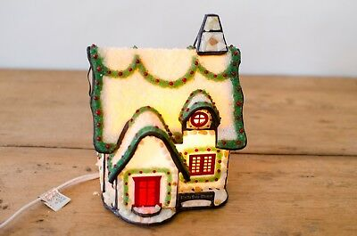 Forma Vitrum Holly Day Home Stained Glass Light Up w Box