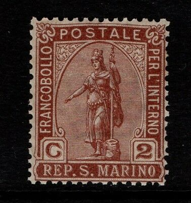San Marino 1899 2c Statue of Liberty SG 38 MNH see note