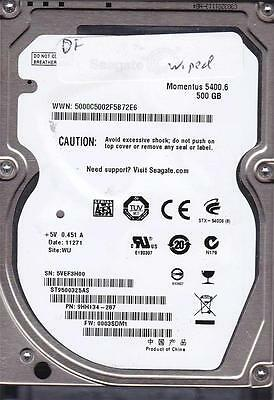 Seagate ST9500325AS 0003SDM1 WU