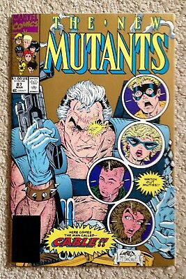 New Mutants #87 (1990) 1st App Of Cable! (2nd Print Gold Cover)  Very Nice Copy!