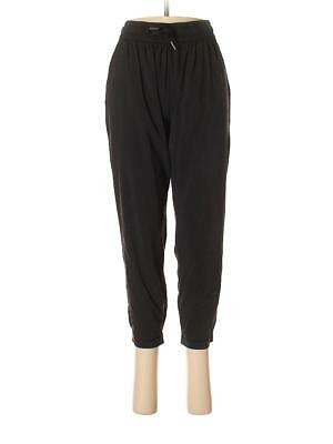 Lululemon Namaskar Crop Black Jogger Drawstring Waist 8 Yoga Lounge Soft Flowing