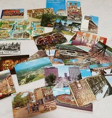Lot Of Vintage Travel Souvenir Postcards And Pictures