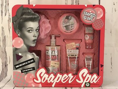 Soap & Glory Gift Set Soaper Spa 7 Piece Collection Award Winning New in Box