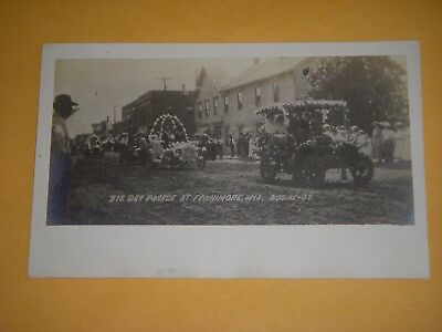 Big Day Parade At Fennimore, Wis, Aug. 15, '1907 - Real Photo Postcard