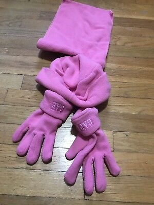 Girls Pink GAP Scarf Glove And Hat Set