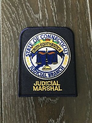 Connecticut Ct Judicial Branch Marshal Police Department Officer Patch
