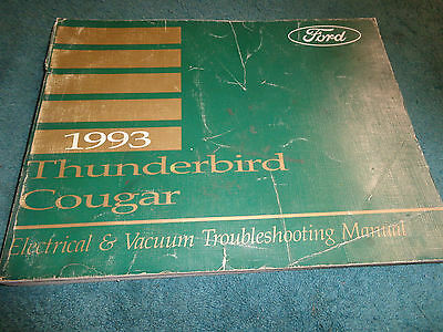 1955 ford thunderbird wiring diagram manual 12 95 picclick 1993 ford thunderbird cougar wiring vacuum diagram shop manual orig electrical