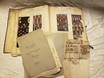 Antique Fabric Sampler Book Ledger....Salesman Sample Book....Dated 1874...Very