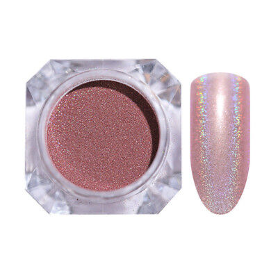1g Holographic Nail Glitter Powder Nail Art Maroon Laser Dust Manicure Pigment