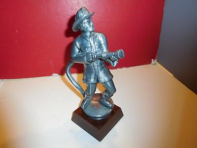 Pewter Firefighter Statue