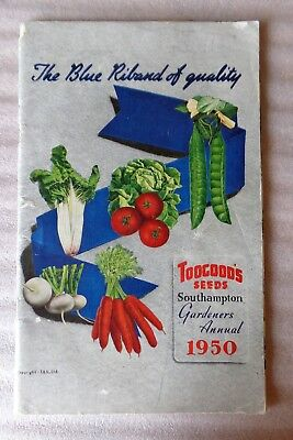 Toogoods Seeds Southampton Gardeners Annual 1950  - Vintage Catalogue